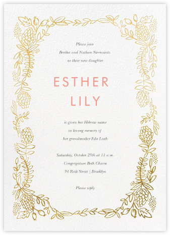 Botanical Lace - Gold - Rifle Paper Co. - Rifle Paper Co. Invitations