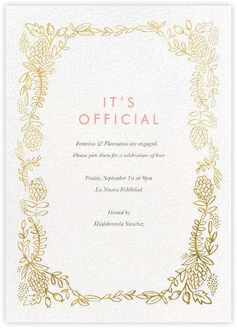 Botanical Lace - Gold - Rifle Paper Co. - Engagement party invitations