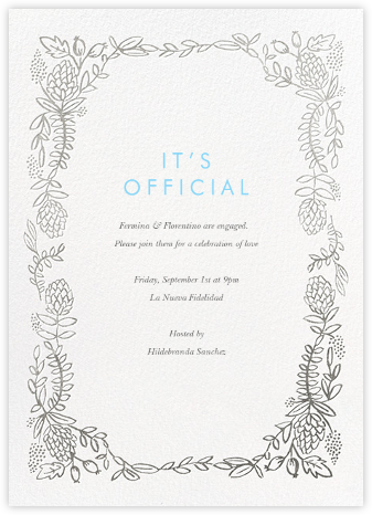 Botanical Lace - Silver - Rifle Paper Co. - Engagement party invitations