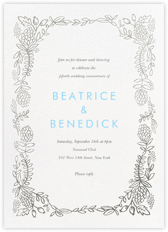 Botanical Lace - Silver - Rifle Paper Co. - Rifle Paper Co. Invitations