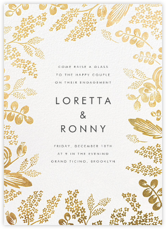 Heather and Lace - Gold - Rifle Paper Co. - Engagement party invitations