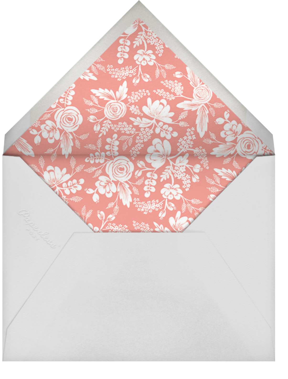 Heather and Lace (Invitation) - White/Gold - Rifle Paper Co. - Rehearsal dinner - envelope back