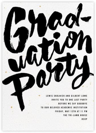 Graffiti Grad - Paperless Post - Celebration invitations