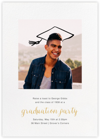 Thinking Cap - Paperless Post - Graduation Party Invitations