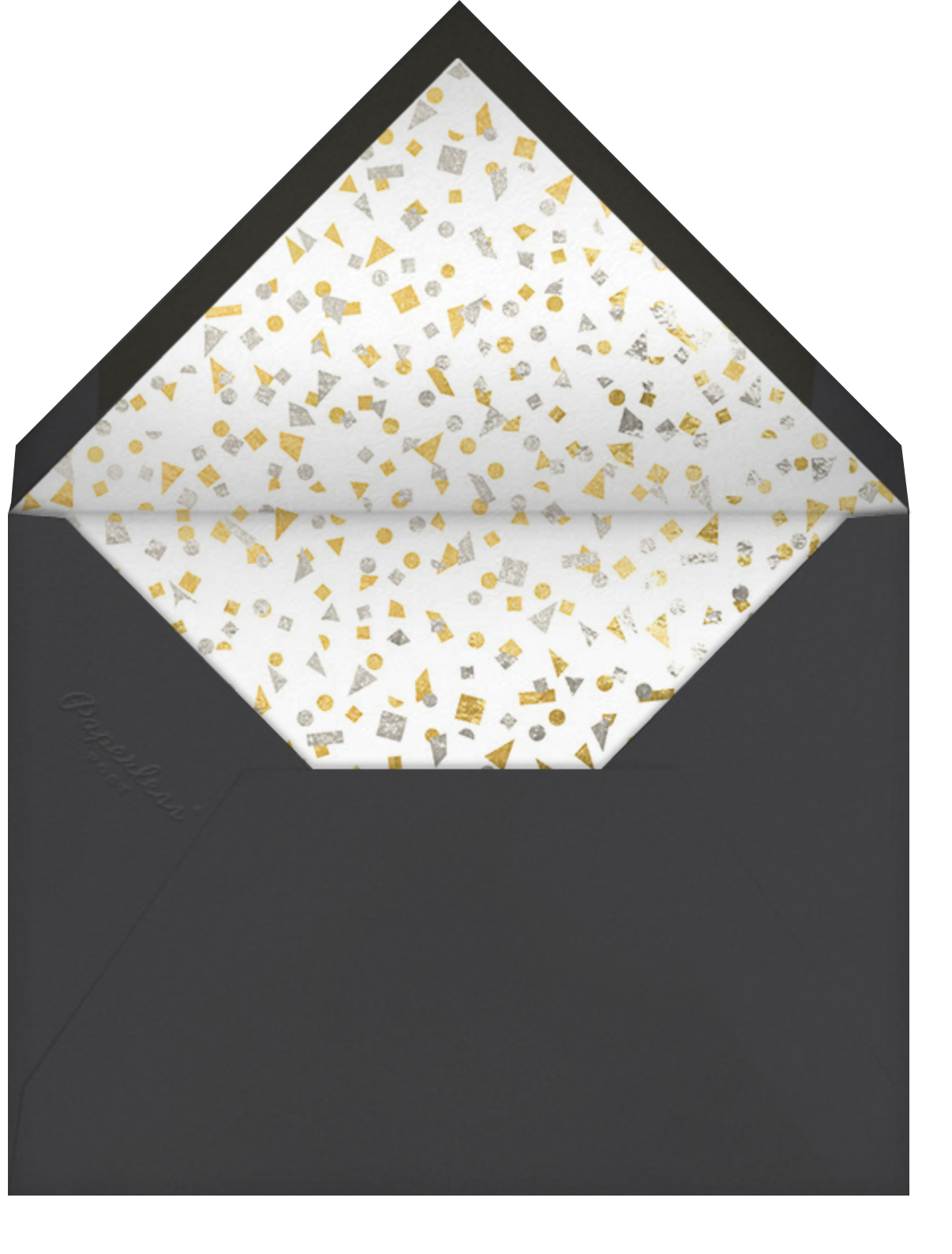 Thinking Cap - Paperless Post - Graduation party - envelope back