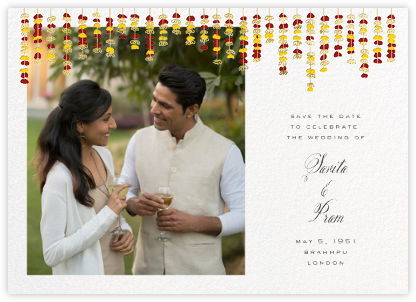 Under the Toran (Photo Save the Date) - Crimson - Paperless Post - Save the dates