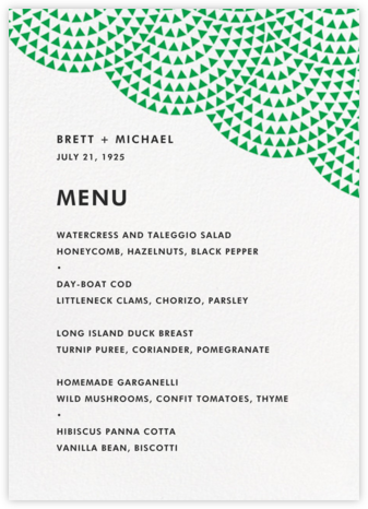 Savoy (Menu) - Emerald - Paperless Post - Wedding menus and programs - available in paper