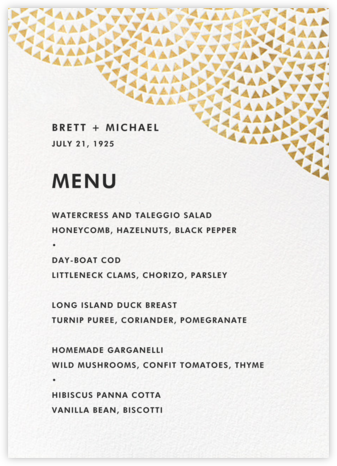 Savoy (Menu) - Gold - Paperless Post - Wedding menus and programs - available in paper