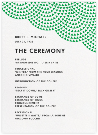 Savoy (Program) - Emerald - Paperless Post - Wedding menus and programs - available in paper