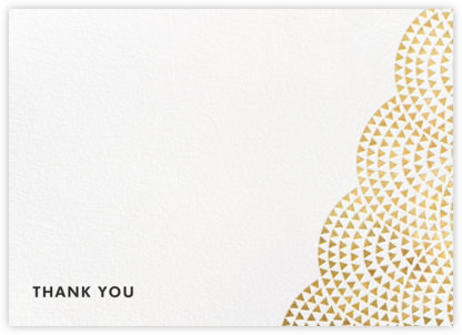 Savoy (Stationery) - Gold - Paperless Post - Wedding thank you notes