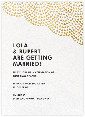 Savoy (Tall) - Gold - Paperless Post - Engagement party invitations