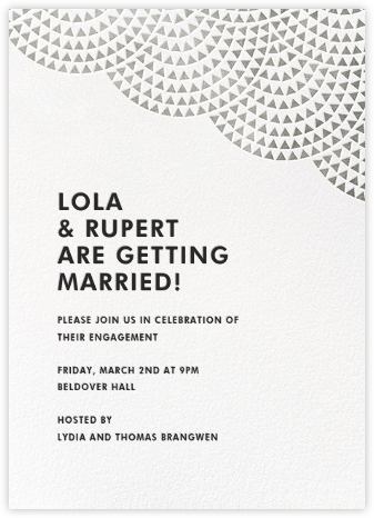 Savoy (Tall) - Silver - Paperless Post - Engagement party invitations