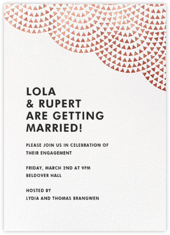Savoy (Tall) - Rose Gold - Paperless Post - Engagement party invitations