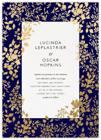 Richmond Park (Invitation) - Navy/Gold | null