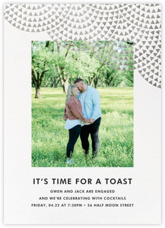 Savoy (Photo) - Silver - Paperless Post - Engagement party invitations