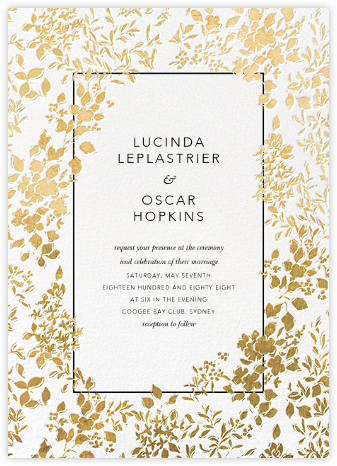 Richmond Park (Invitation) - White/Gold - Oscar de la Renta - Printable Invitations