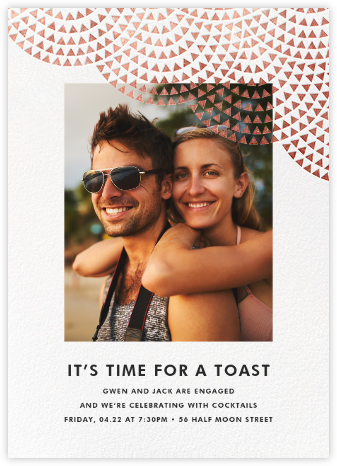 Savoy (Photo) - Rose Gold - Paperless Post - Engagement party invitations