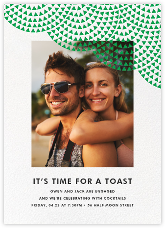 Savoy (Photo) - Emerald - Paperless Post - Engagement party invitations