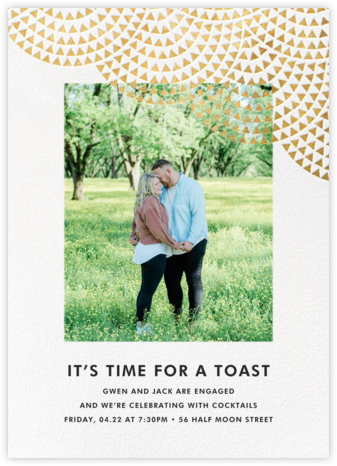 Savoy (Photo) - Gold - Paperless Post - Engagement party invitations