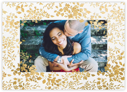 Richmond Park (Photo Save the Date) - Gold | null