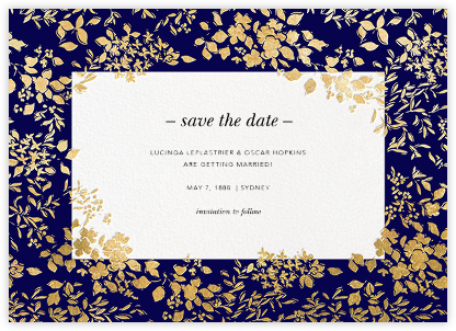Richmond Park (Save the Date) - Navy/Gold | null