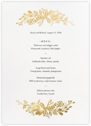 Floral Silhouette (Menu) - White/Gold