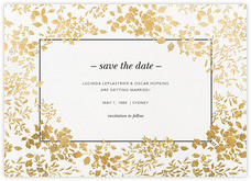 Richmond Park (Save the Date) - White/Gold