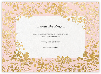 Richmond Park (Save the Date) - Pink/Gold - Oscar de la Renta - Save the dates