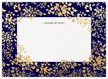 Richmond Park (Stationery) - Navy/Gold | null