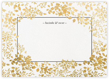 Richmond Park (Stationery) - White/Gold - Oscar de la Renta - Wedding thank you cards