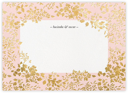 Richmond Park (Stationery) - Pink/Gold | null