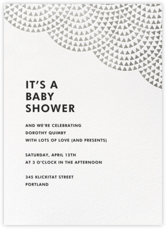 Savoy (Tall) - Silver - Paperless Post - Baby Shower Invitations