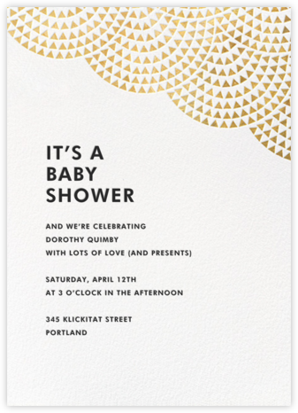 Savoy (Tall) - Gold - Paperless Post - Baby Shower Invitations