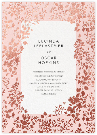 Richmond Park (Invitation) - Pink/Rose Gold | null