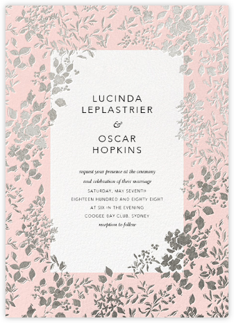 Richmond Park (Invitation) - Pink/Silver - Oscar de la Renta -