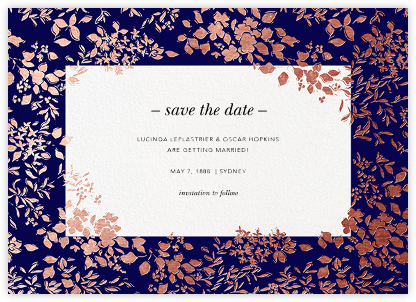 Richmond Park (Save the Date) - Navy/Rose Gold - Oscar de la Renta - Save the dates