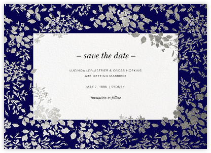 Richmond Park (Save the Date) - Navy/Silver - Oscar de la Renta - Save the dates