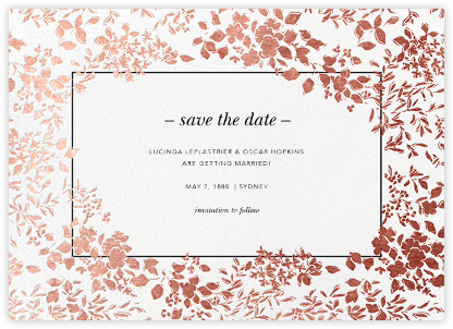 Richmond Park (Save the Date) - White/Rose Gold - Oscar de la Renta - Save the dates