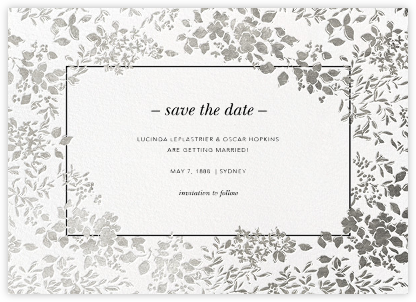 Richmond Park (Save the Date) - White/Silver - Oscar de la Renta - Save the dates