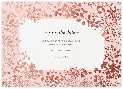 Richmond Park (Save the Date) - Pink/Rose Gold | null