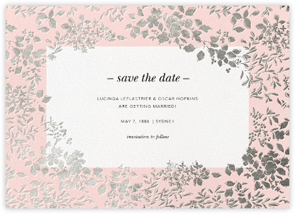 Richmond Park (Save the Date) - Pink/Silver - Oscar de la Renta -