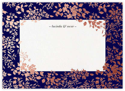 Richmond Park (Stationery) - Navy/Rose Gold | null