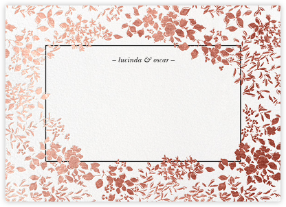 Richmond Park (Stationery) - White/Rose Gold - Oscar de la Renta -