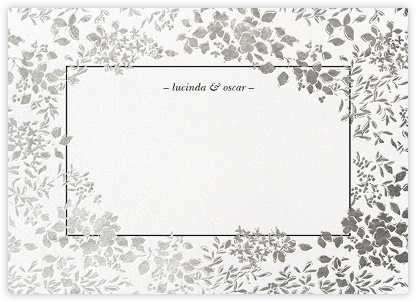 Richmond Park (Stationery) - White/Silver - Oscar de la Renta - Personalized Stationery