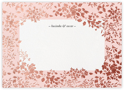 Richmond Park (Stationery) - Pink/Rose Gold | null