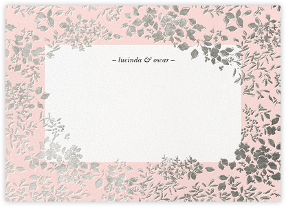 Richmond Park (Stationery) - Pink/Silver | null