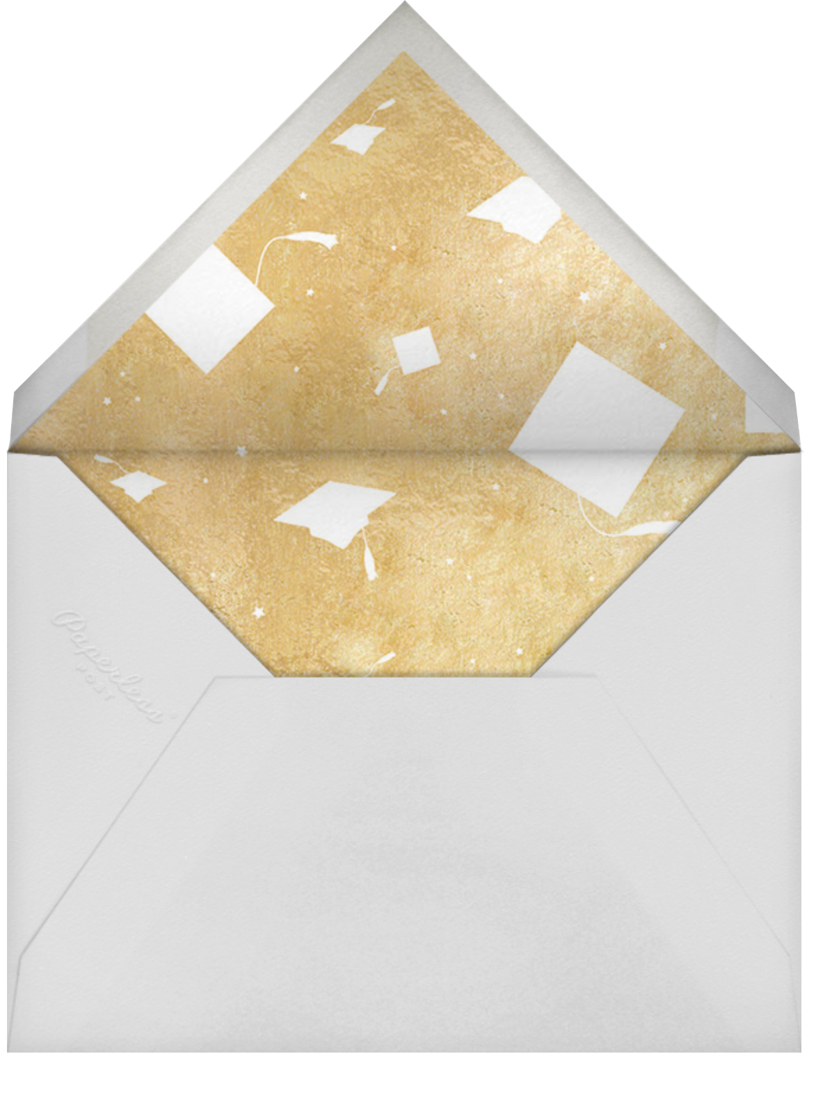 Squared Away - Paperless Post - Graduation party - envelope back