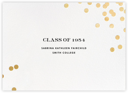Confetti - White/Gold - kate spade new york - Graduation announcements