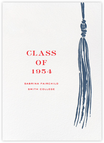 Tassel - Blue - kate spade new york - Graduation Announcements