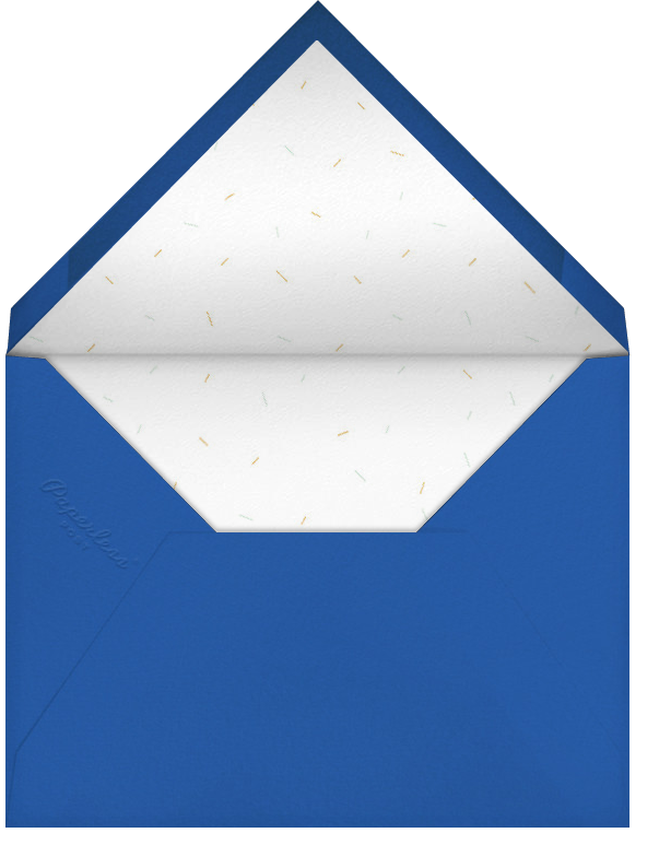 Baby's First Library - Mint - Paperless Post - Baby shower - envelope back